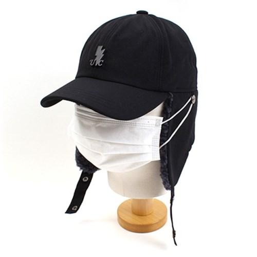 BKThunder Black Poly Earflap Cap 귀달이모자