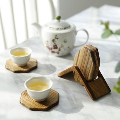 원목 티코스터 코스터 카페 컵받침 나무 컵받침대_(2457376)
