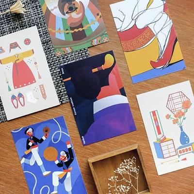 [istyle]Korean Minhwa Postcard Set-동(Dynamic)