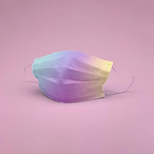 POPme 키즈용 컬러마스크 레인보우 5매 리유저블 파우치