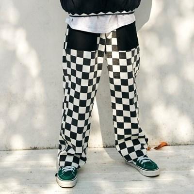 [프리키쉬빌딩] RON CHECKER LONG PANTS ㅡ BLACK