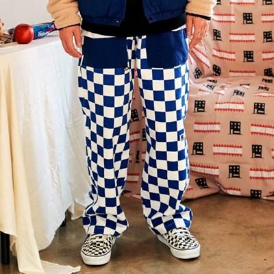 [프리키쉬빌딩] RON CHECKER LONG PANTS ㅡ BLUE