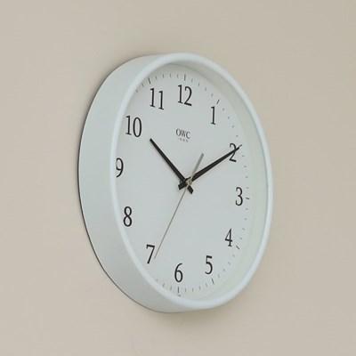 오리엔트 OTM898WH 무소음 라운드엣지 인테리어벽시계' 화이트