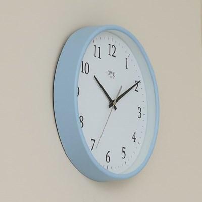 오리엔트 OTM898BL 무소음 라운드엣지 인테리어벽시계' 블루
