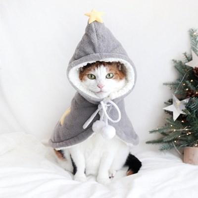 별마법사 극세사 수면 잠옷 망토 고양이 강아지 옷 모자 MIYOPET