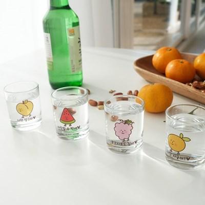 모애 과일 말장난 소주잔 1개