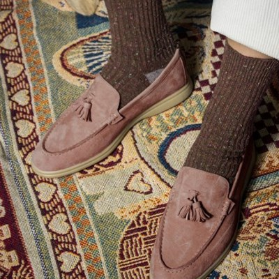 Pinecone loafer- dusty pink