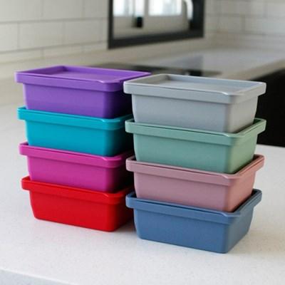 (국산) 실리콘 냉장 냉동 보관용기(1구) - 8color_(3069990)