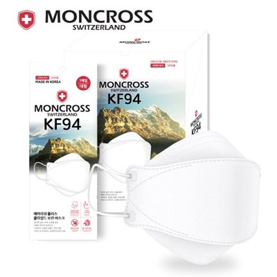 몽크로스 4중필터 인증 마스크 KF94 개별포장 화이트