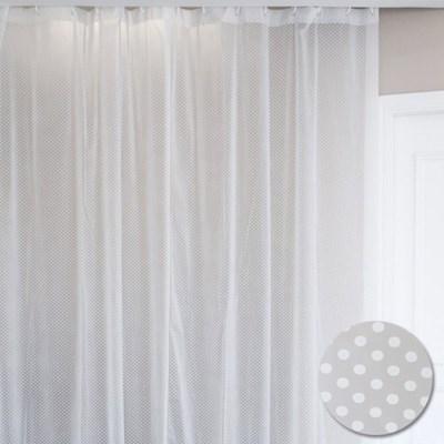 화이트 도트 땡땡이 다용도 샤워커튼 비닐커튼