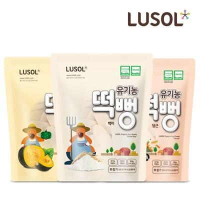 [루솔] 어린이 유기농 떡뻥 쌀과자 6팩 골고루세트