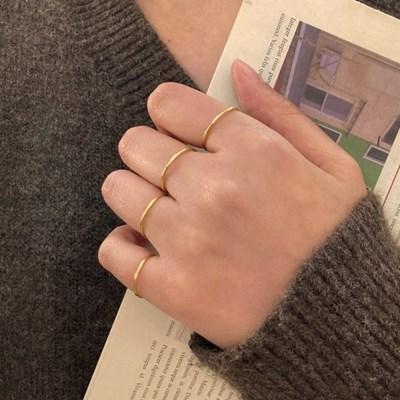 열손가락 얇은 민자 레이어드 심플 925링 실반지