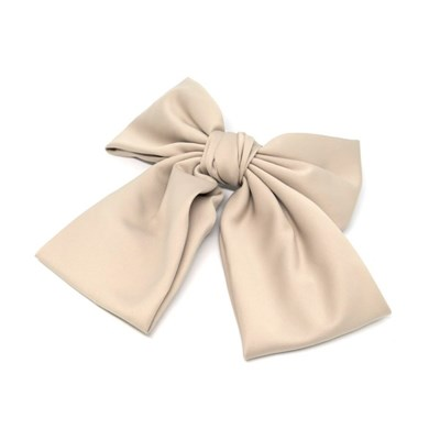 lovely big ribbon hairpin (beige)