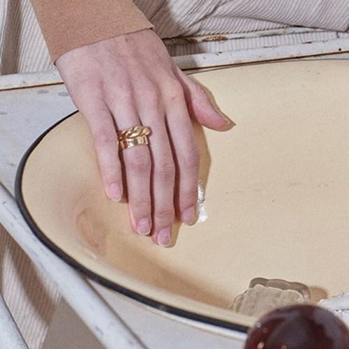 Board Twist Ring - Gold, Silver
