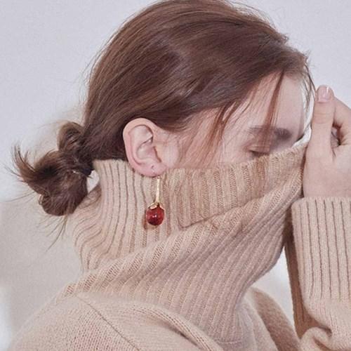 Pumpkin Flower Earring