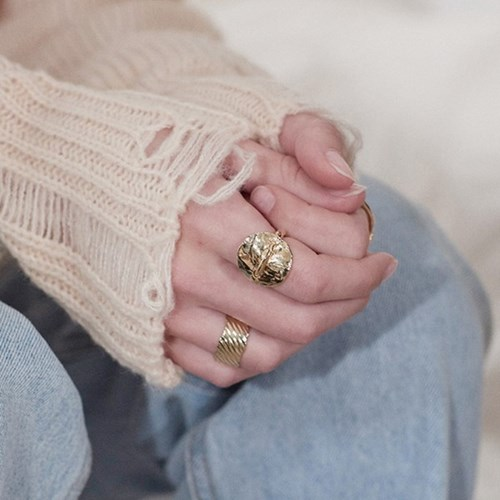 Line Pass Ring - Gold, Silver