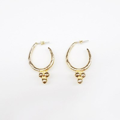 Triple Ball Earring