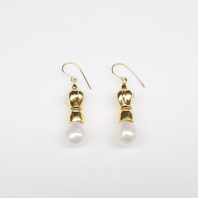 Crown Pearl Small Earring