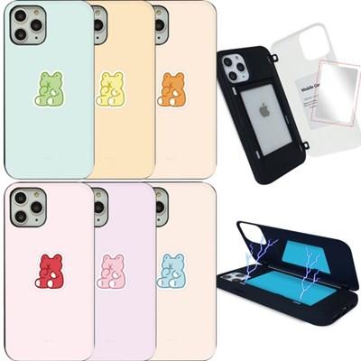 WK 젤리곰 마그네틱 도어 범퍼 미러 카드 핸드폰 케이스