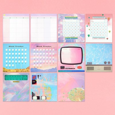 Merry Go Round - Sticker & Heavy Memo Pad (저널호환,10type)