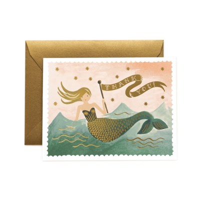 Mermaid Thank You Card 감사 카드