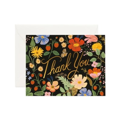 Strawberry Fields Thank You Card 감사 카드