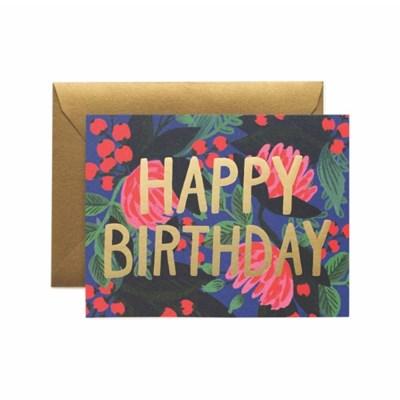 Floral Foil Birthday Card 생일 카드