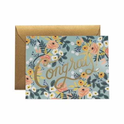 Blue Meadow Congrats Card 축하 카드