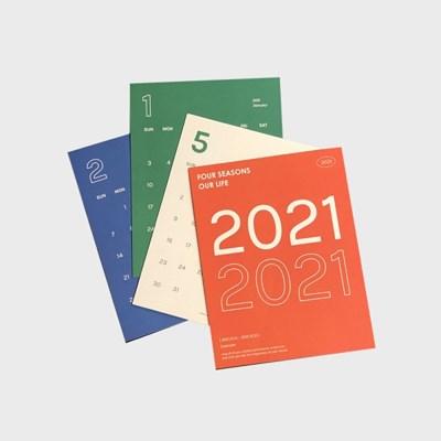 2021 calendar 달력 (스티커 세트)