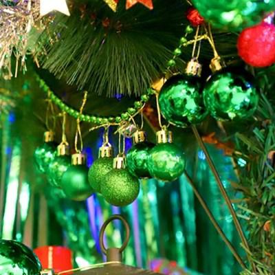 크리스마스 장식볼 오너먼트 3cm 20입 (그린)_(301836173)