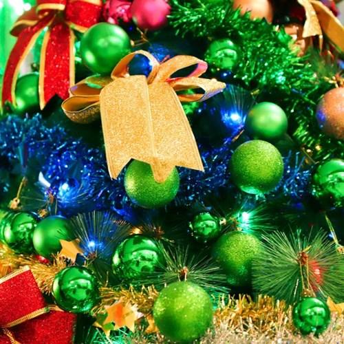 크리스마스 장식볼 오너먼트 4cm 24입 (그린)_(301836172)