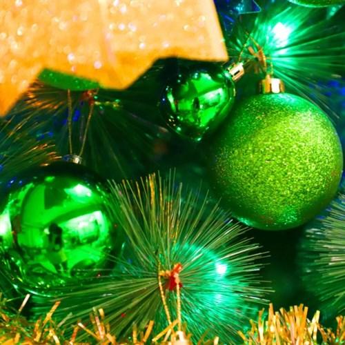 크리스마스 장식볼 오너먼트 8cm 8입 (그린)_(301836167)