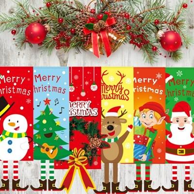 크리스마스 장식 현수막 가랜드 족자봉