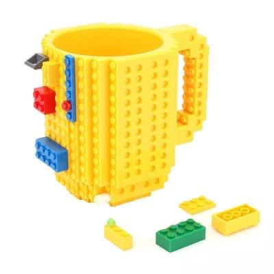레고 컵 연필꽂이 (Yellow)
