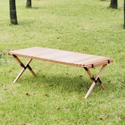 제이픽스 캄푸스 애쉬 우드 롤 접이식 캠핑 테이블 - 중