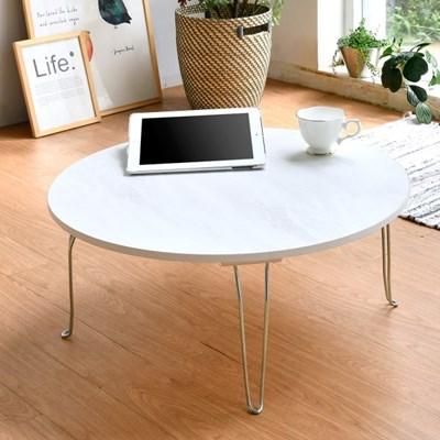 [데코마인] 벨지 원형 거실 좌식테이블