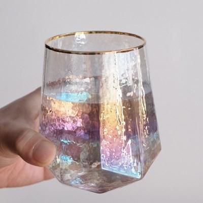 골드림 홀로그램 다이아 유리컵 2 Type