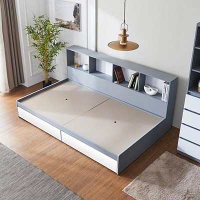 [세컨드컨테이너] 하이덴 파티션 수납형 침대(SS)