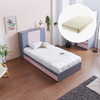 [세컨드컨테이너] 하이덴 서랍형 침대(SS) + 매트리스