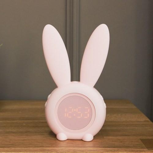 (kcrz101)Bunny 탁상시계 핑크(무드등 겸용)_(1336902)