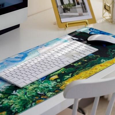 [홈오피스] 반고흐 컴퓨터 노트북 키보드 마우스 패드