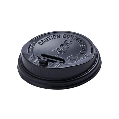 8온스 종이컵 리드 (개폐 블랙) 1000개(1박스)_(1346680)