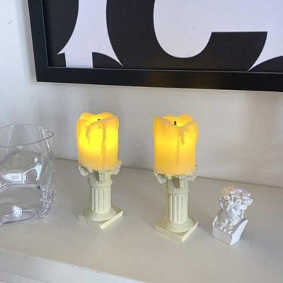 LED 감성조명 미니캔들+양초받침세트