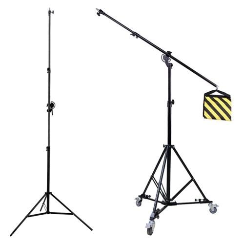 LT-339 카메라 조명 수직촬영 붐스탠드 + KV-157 삼각대 돌리 SET
