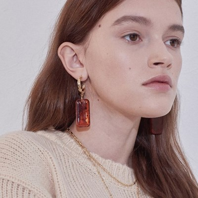 Pumpkin Piece Earring