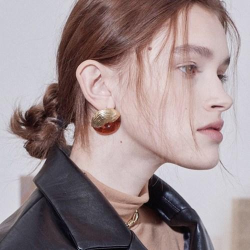 Pumpkin Macaroni Earring
