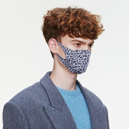 [르마스카] 패션 마스크 - 레오파드 그레이