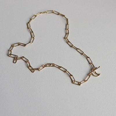 [Silver 925] 달 토글 에버 체인 목걸이