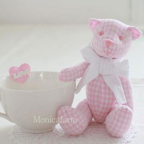 핑크 테디베어 (2size)
