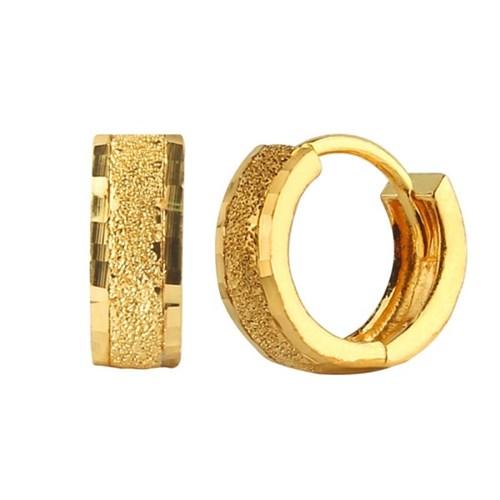 24K 순금 컷팅 포인트 원터치 귀걸이 3.75g